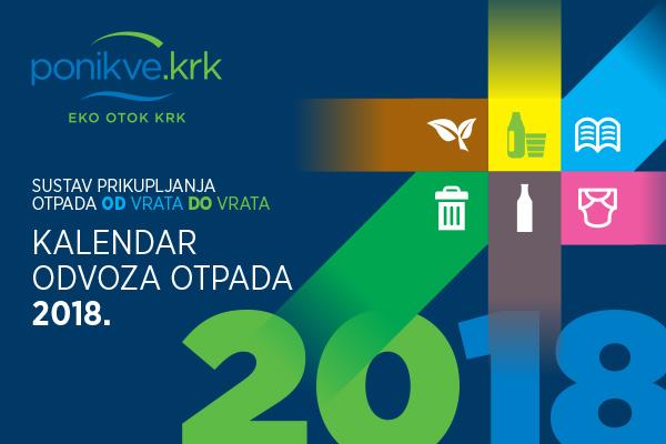 Kalendar odvoza otpada 2018