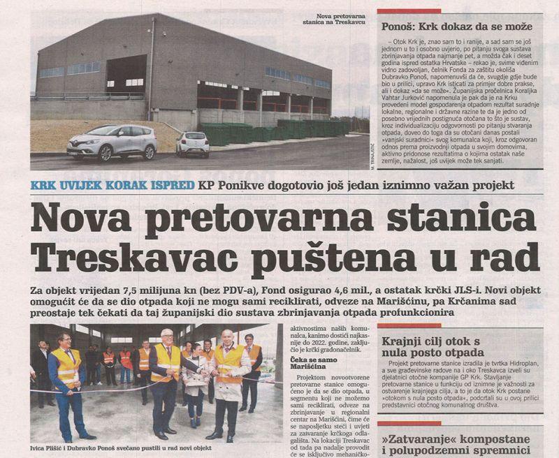 Nova pretovarna stanica Treskavac puštena u rad