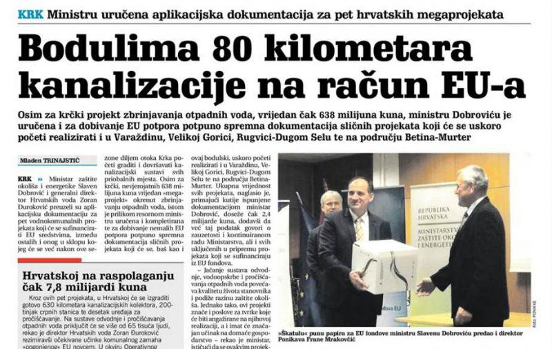 Bodulima 80 kilometara kanalizacije na račun EU-a