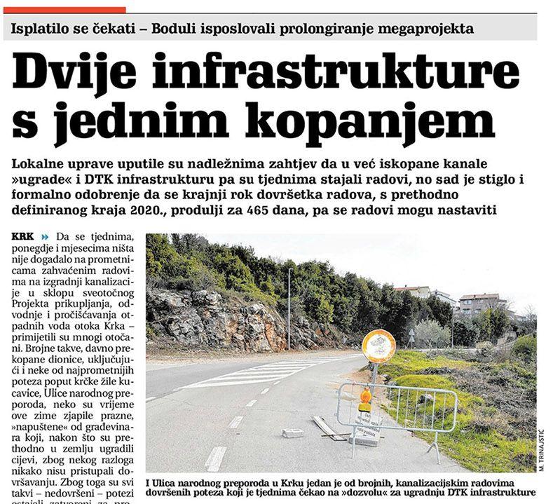 Dvije infrastrukture s jednim kopanjem