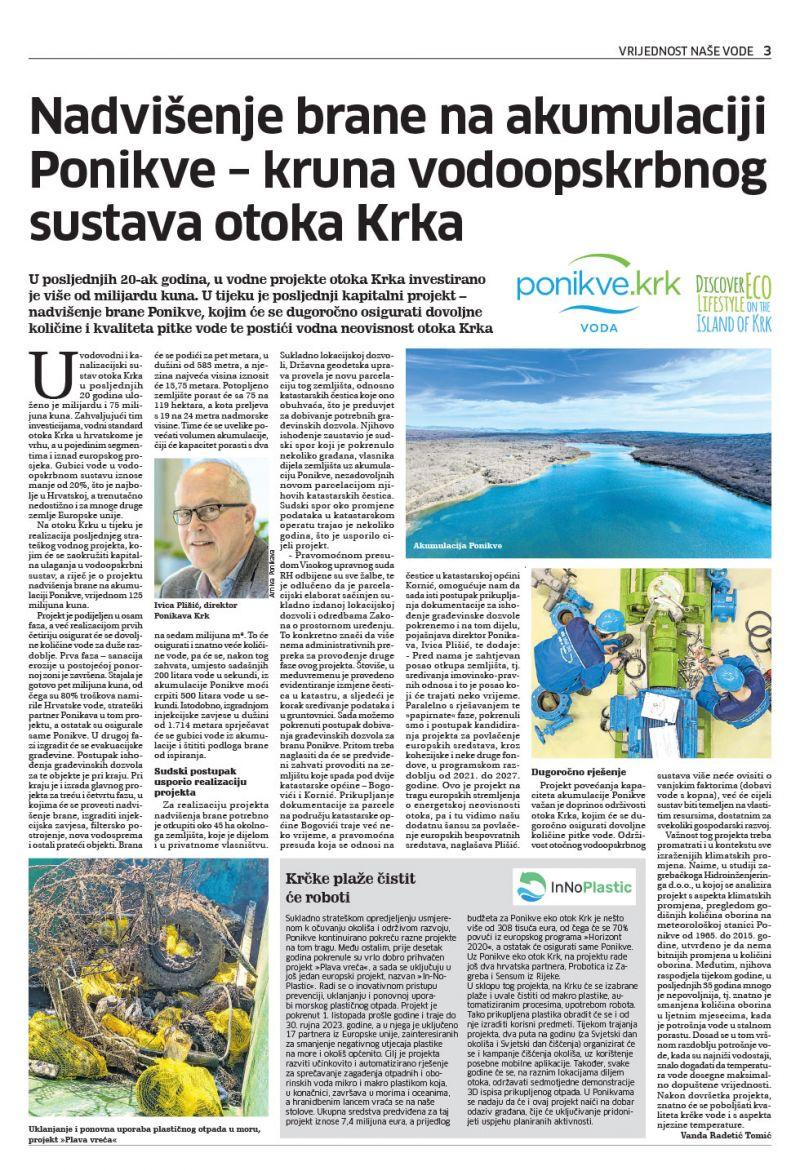 Novi list - dan voda - ožujak 2021.