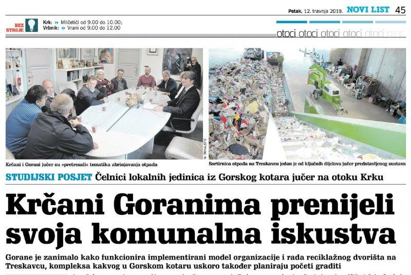 Krčani Goranima prenijeli svoja komunalna iskustva